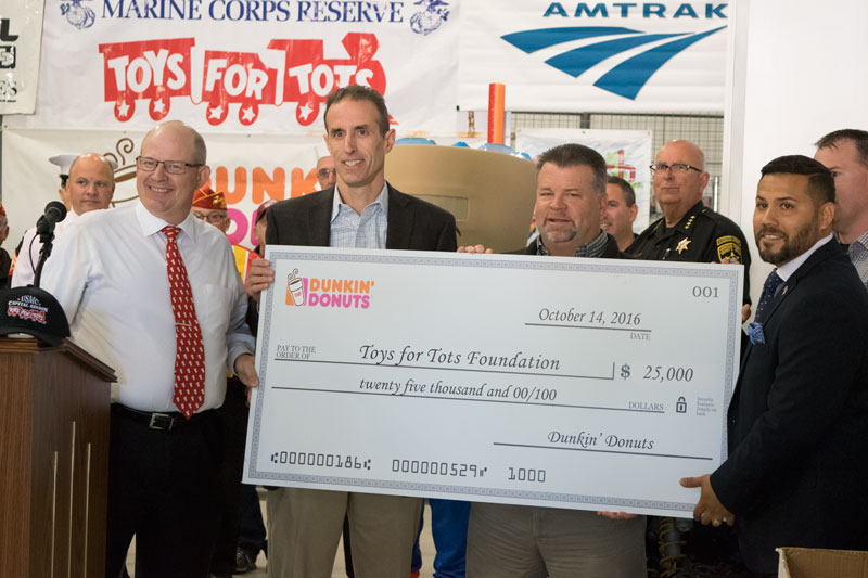 Dunkin Donuts Toys for Tots Donation