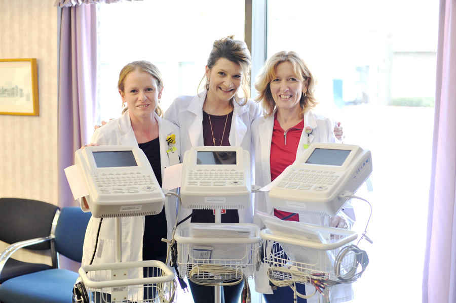 Pictured from left to right: Amanda Duket, RN Charge Nurse; Jessica Ross, RN 2 Hathorn Unit Coordinator; and Vellecia Izzo, RN 5 Springs Unit Coordinator.