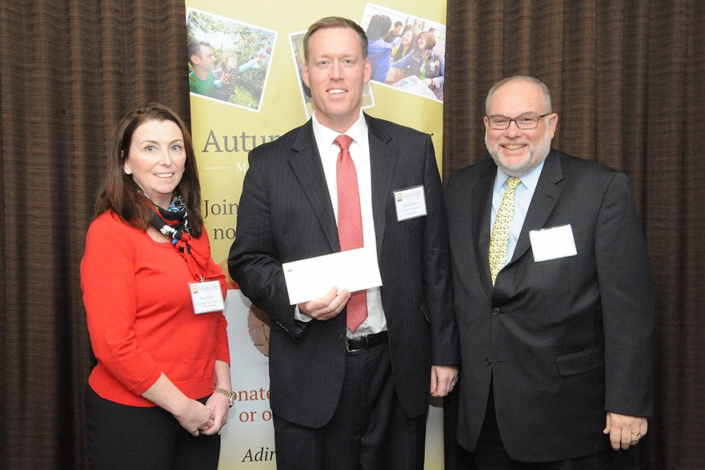 . Pictured from left: Mary Gavin, The Adirondack Trust Company Community Fund; Greg Dixon, Executive Director of The Wesley Foundation; and Brian Nealon, CEO of The Wesley Community.