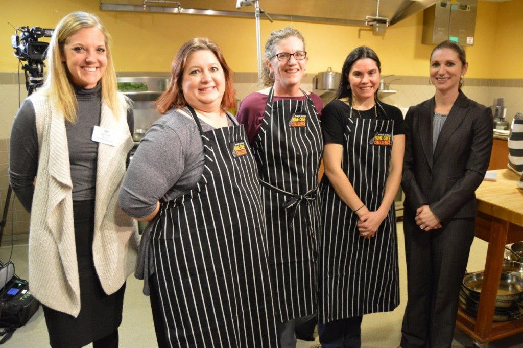 . From left to right: Hannaford Supermarkets Senior Marketing Specialist Hannah Taylor; Burlington regional winner Jeanette Souther; semi-finalist Anne Williams; semi-finalist Lyn Paolino; and Hannaford Supermarkets Director of Operations Samara Bushey.