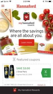 My Hannaford Rewards app